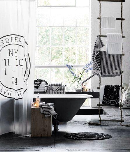 Idee für Handtücher im Bad