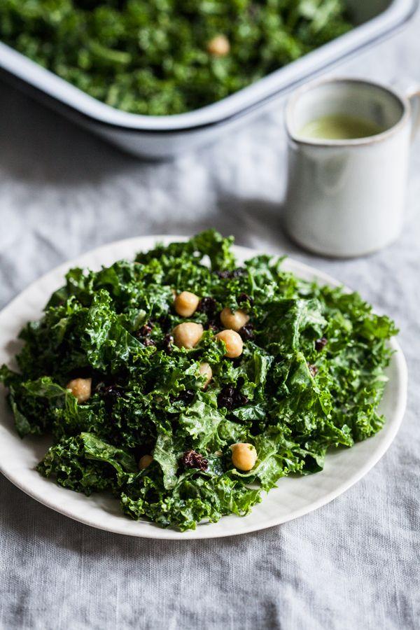 Tahini Mint Kale Salad