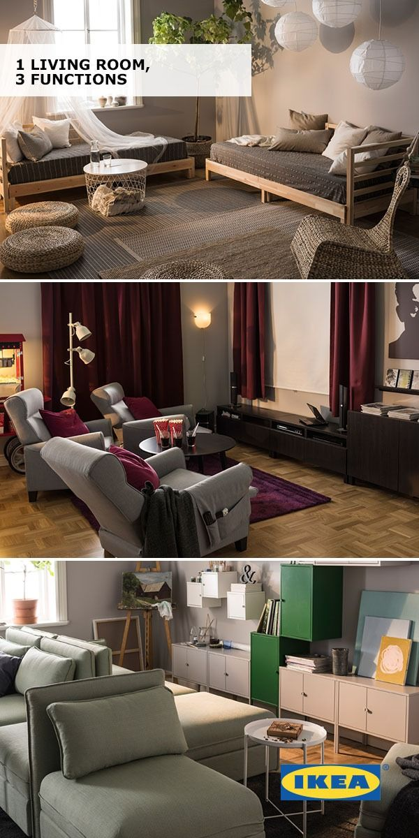Your Living Room Serves So Many Functions Entertaining Relaxing Eating You Name It Check Out These Three Disti Design Your Home Dream Furniture Best Ikea