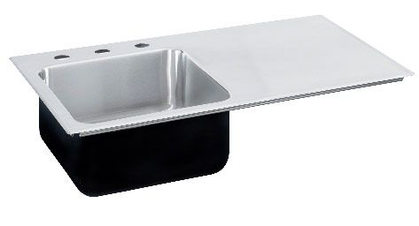 Image Of Right Side Drainboard Stainless Steel Sink  Plumbing Impressive Kitchen Sinks With Drainboards Inspiration Design