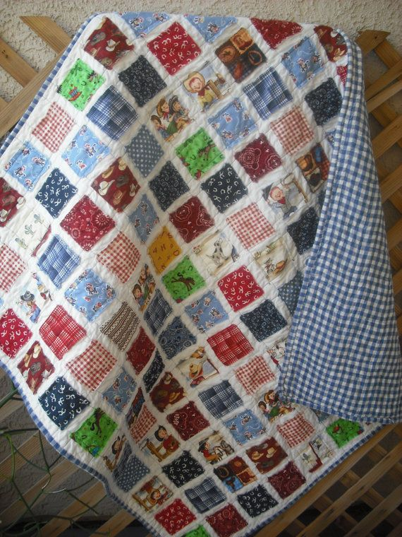 Cowboy Quilt Reversible Patterns For The Boys Room Rooms For The
