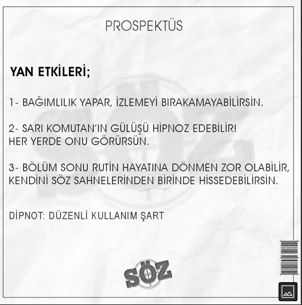 Soz Dizisinin Yan Etkileri Personalized Items Person Receipt