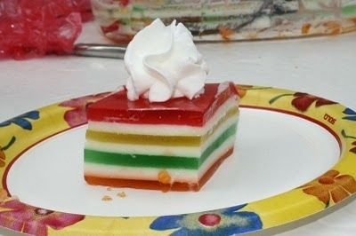 Seven Layer Jello Salad Layered Jello Jello Recipes Dessert Salads
