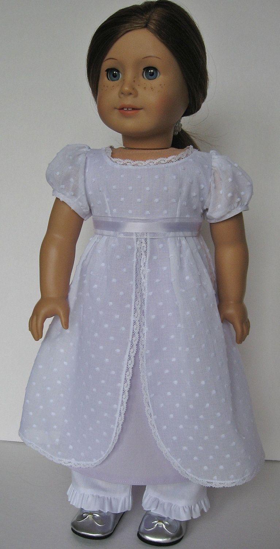 Simple Pretty Jane Austen Doll Dress Girl Doll Clothes