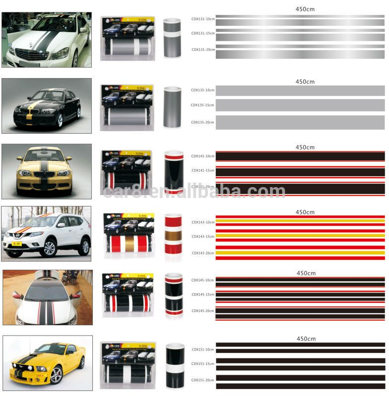 Car Body Racing Stripes Cover Roof Line Stickers Racing Stripes Racing Stickers Line Sticker