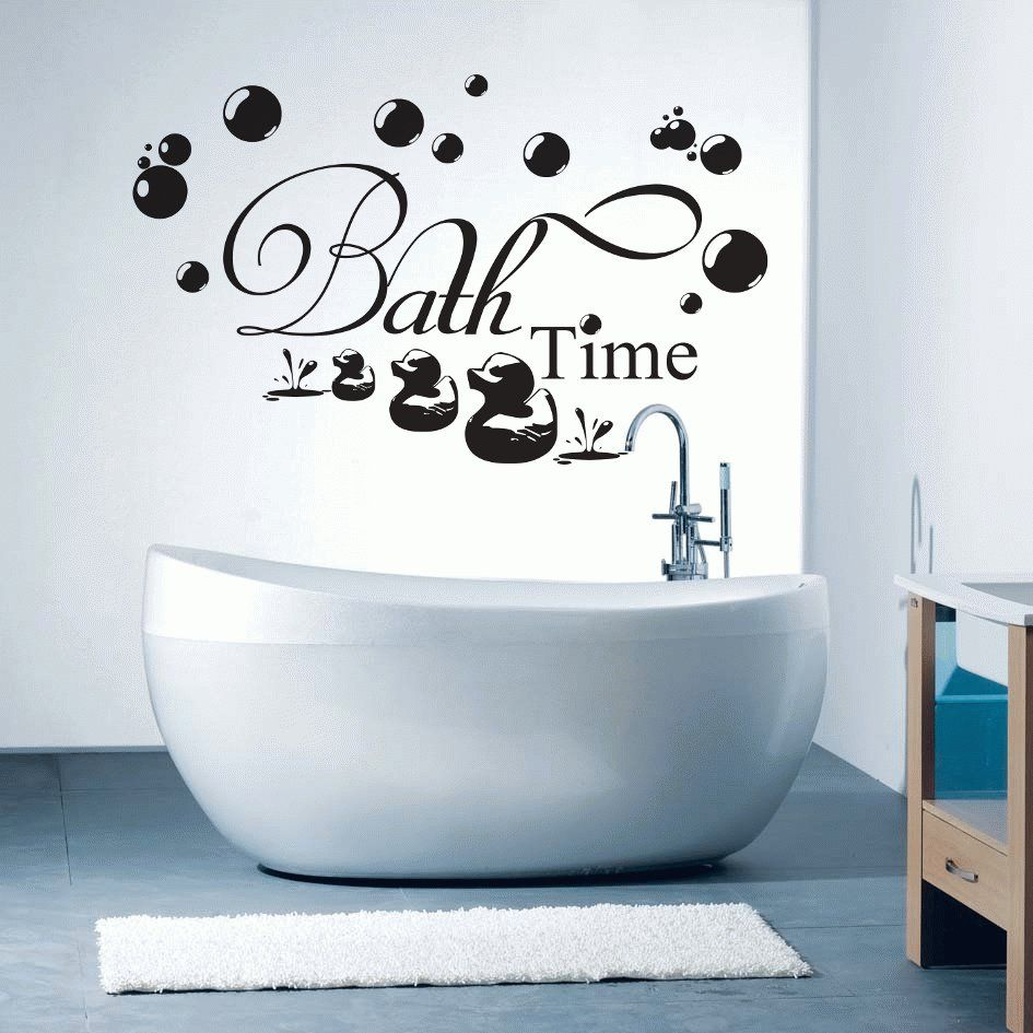 Bathroom wall art stickers - Bath Time Ducky Bubbles Porcelain Or Wall Art Many Sizes Available Wall Safe Sticker Decal Decor Customizable Too