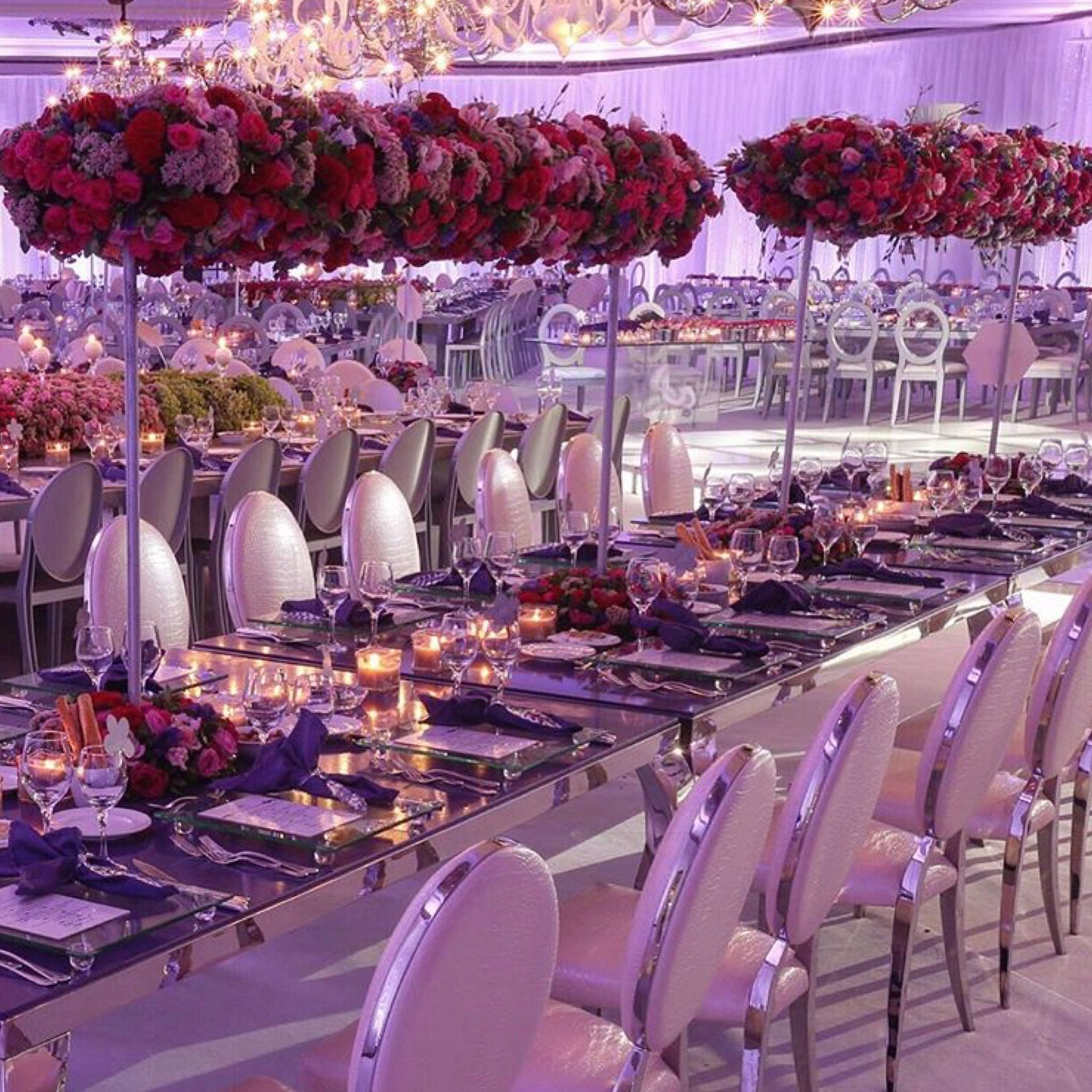 Luxury Wedding Reception With A Perfect And Awesome: Romantic, Elegant And Dreamy...💞