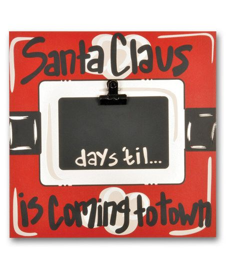 How Long Until Christmas.Magnolia Lane Days Till Santa Claus Chalkboard Frame