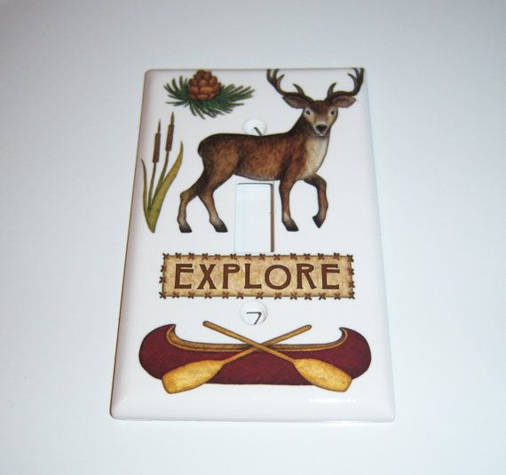 Explore the Woods Single Lightswitch Cover by MoanasUniqueDesigns
