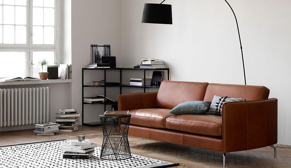Osaka Alba Leather Sofa Living Room Leather Sofa Boconcept Sofa