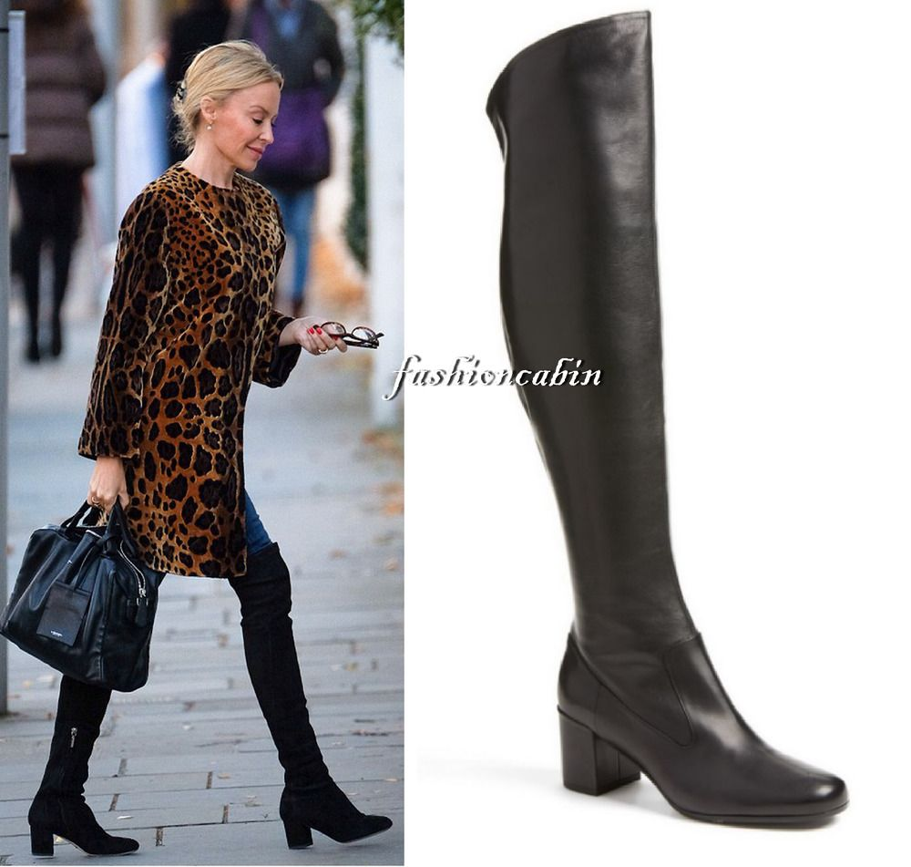 c6d789db72b  60% OFF Vince Blythe Leather Over The Knee Boot Shoes