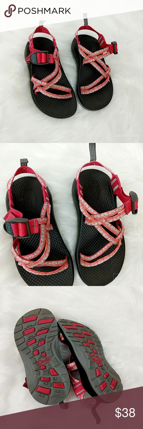 f510568c87f7 Chacos Sandals Waterproof Non Marking Hiking Girls Chacos Sandals  Waterproof Non Marking Hiking Girls Size 1 Youth Pink Chaco Shoes Sandals   Flip  Flops