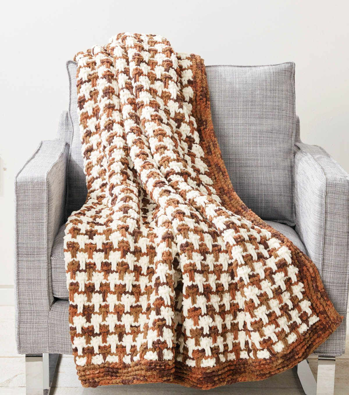 Tweedy Bricks Blanket | Knit with JOANN | Pinterest