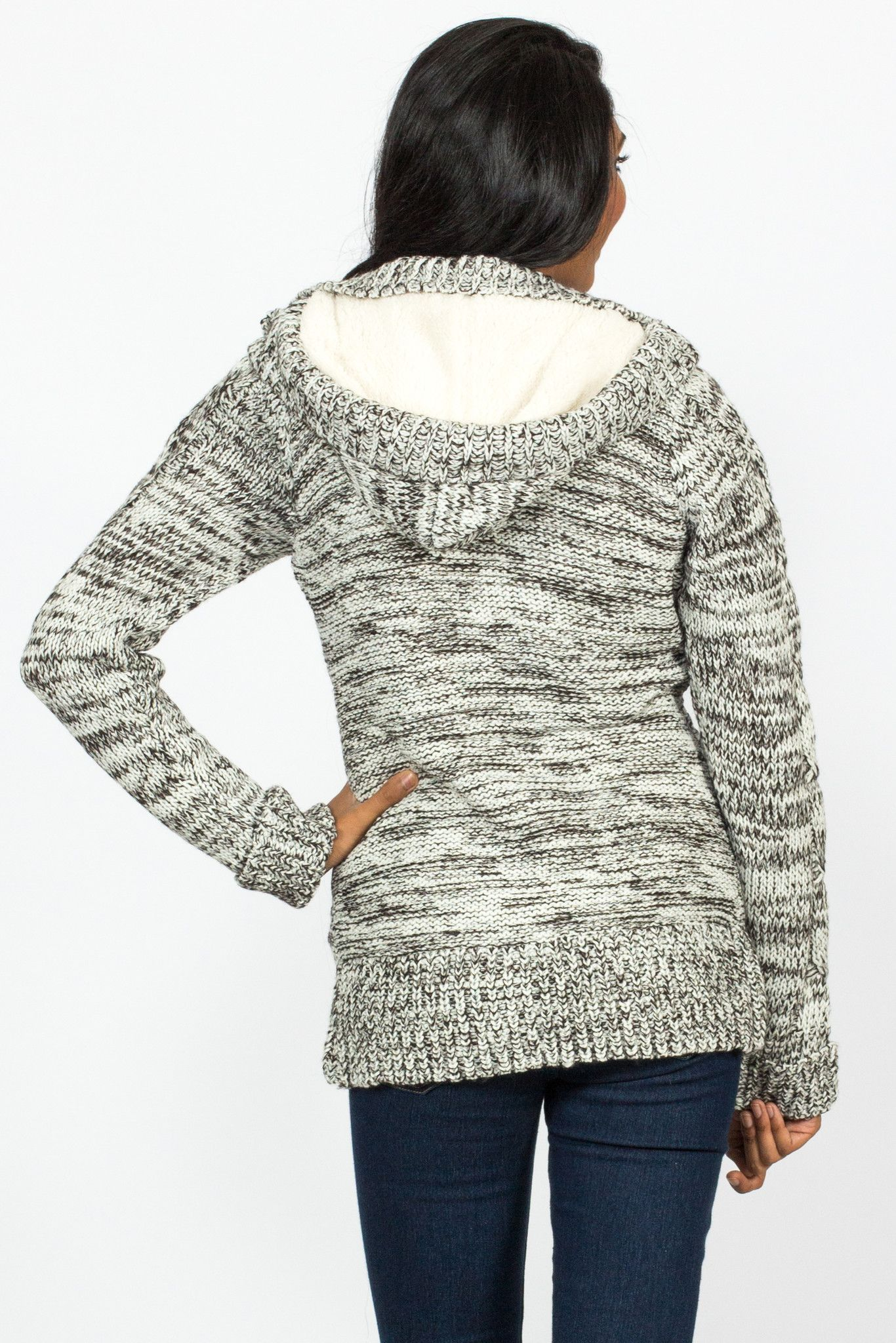 Cable Knit Fur Lined Hoodie | Products | Pinterest | Cable ...