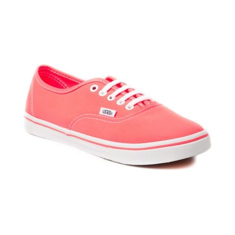Vans Authentic Lo Pro Skate Shoe, Neon Coral | Journeys