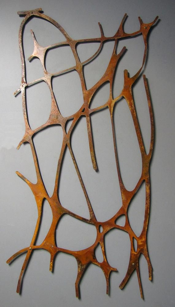 Modern Rustic Metal Art: Art Nouveau Web No. 2 in Rusted ...