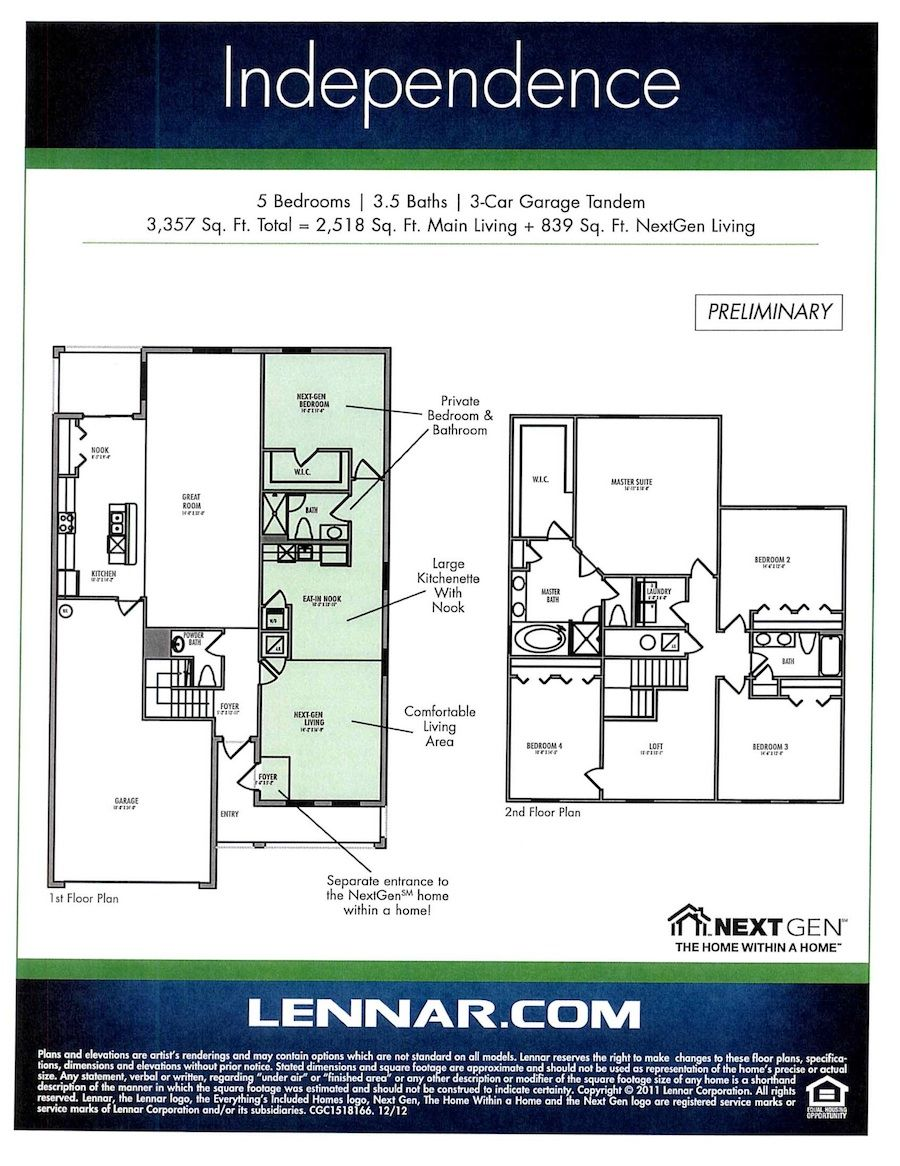next gen floor plans TAMPA Fla Lennar has opened the