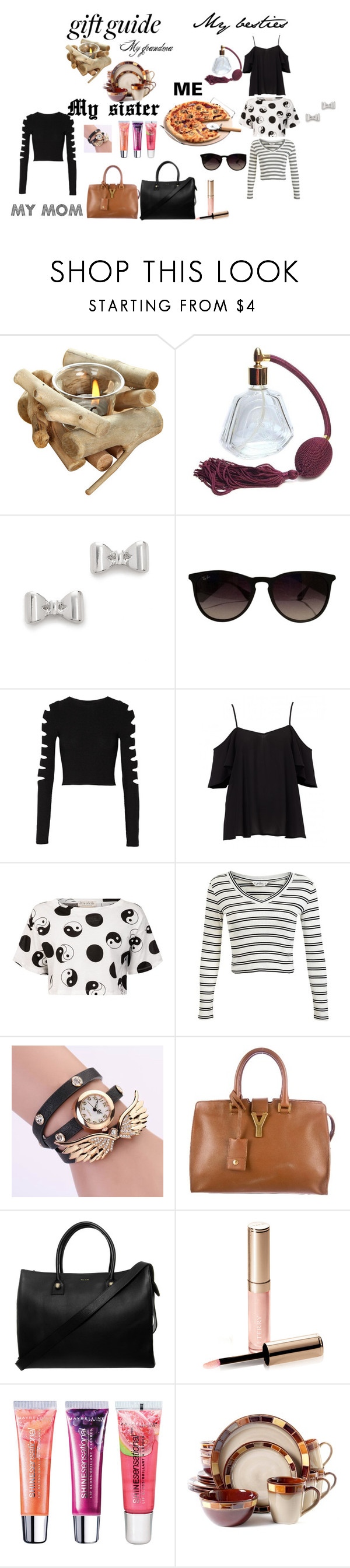 """""""And a Pizza please!"""" by fabiagd ❤ liked on Polyvore featuring moda, Marc by Marc Jacobs, Ray-Ban, Cushnie Et Ochs, Être Cécile, Miss Selfridge, Yves Saint Laurent, Paul & Joe, By Terry e Maybelline"""