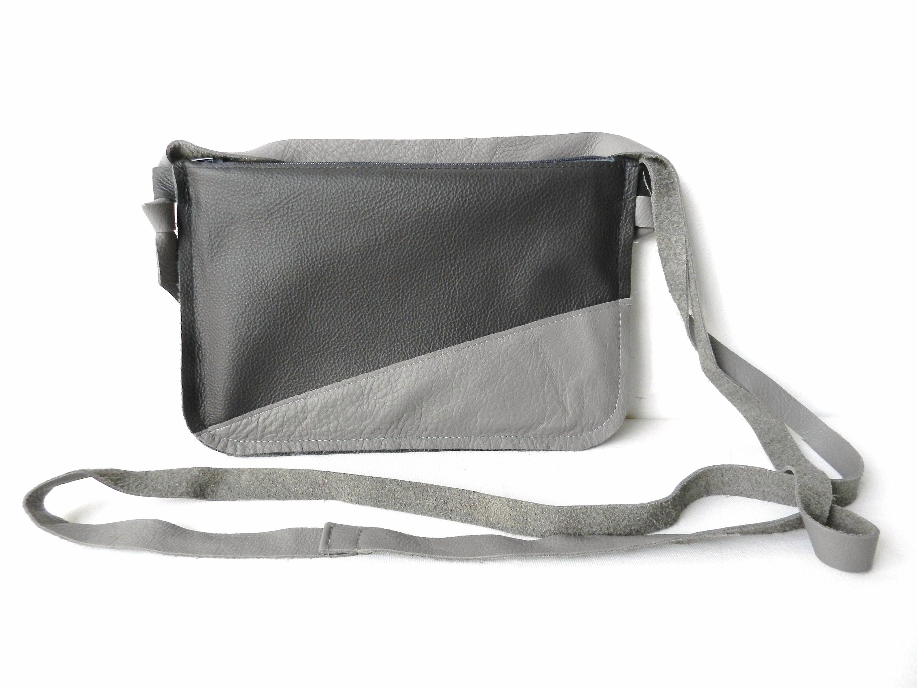 Verwonderend Leather Bag  Leather Crossbody  Grey Leather bag  Small Leather GC-72