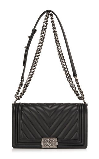 ef5394f56ece Chanel Black Chevron Medium Boy Bag | Incredible Handbags | Chanel ...
