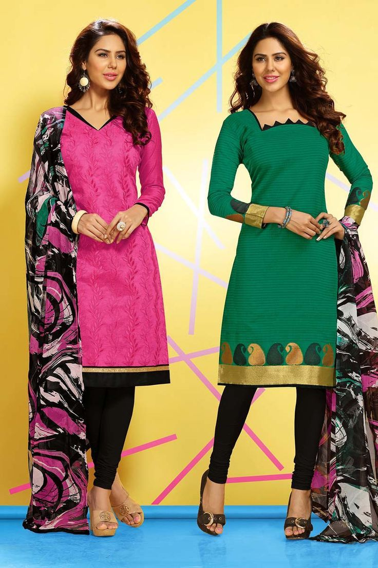 Cotton Churidar Suits Neck Gala Designs For Girls Dress Designs