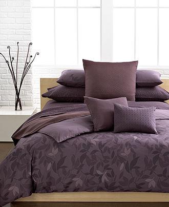 Calvin Klein Bedding Elm Queen Duvet Cover Set Duvet Covers Bed Bath Macy S Comforter Sets Purple Bedding Bedding Sets
