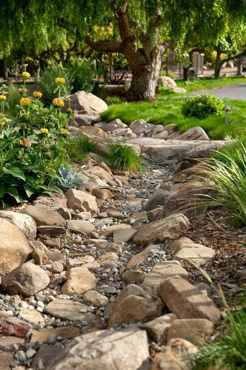 dry creek bed idea dreaming gardens