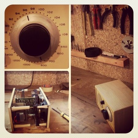 Radio in a new wooden box, this time not in MDF, mister Tivoli! #mowk #furniture #wood #ayous #tivoli #radio