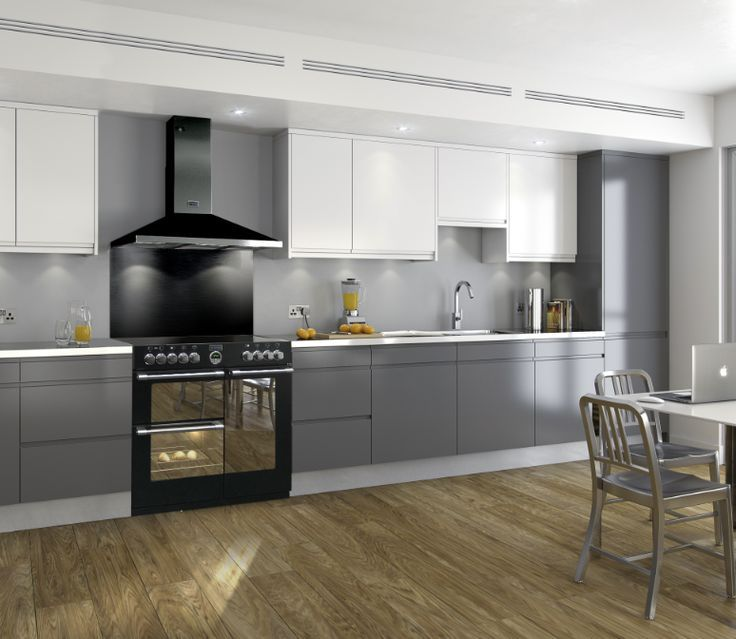 The black Sterling cooker is elegant and modern  like your kitchen reno  plan The black Sterling cooker is elegant and modern  like your kitchen  . Kitchen Design With Range Cooker. Home Design Ideas