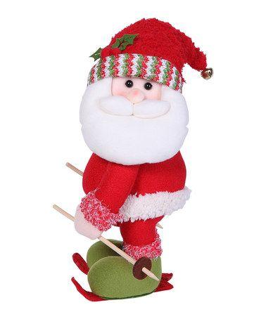 Skiing Santa Figurine #zulily #zulilyfinds