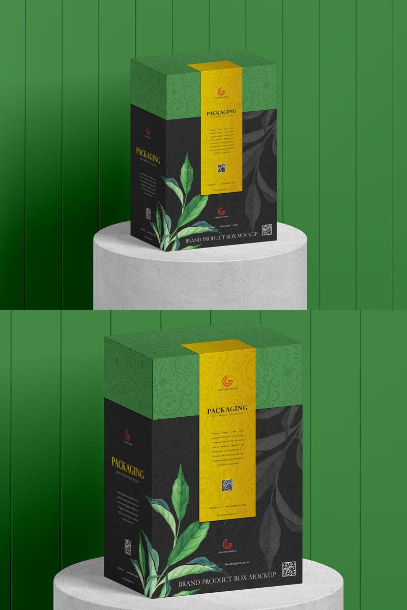 Download Free Organic Food Box Packaging Mockup Dribbble Graphics Food Box Packaging Packaging Mockup Box Packaging
