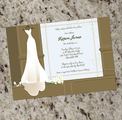 9ff0e9d8fa6d Getting Ready - Personalized Bridal Shower Invitations - Print Your ...