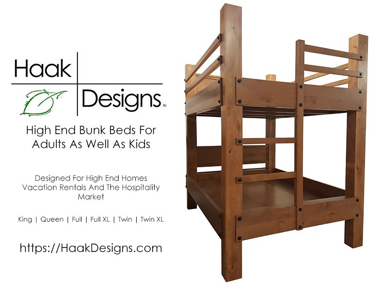 We Build High End Custom Bunk Beds For Use By Adults As Well As Kids