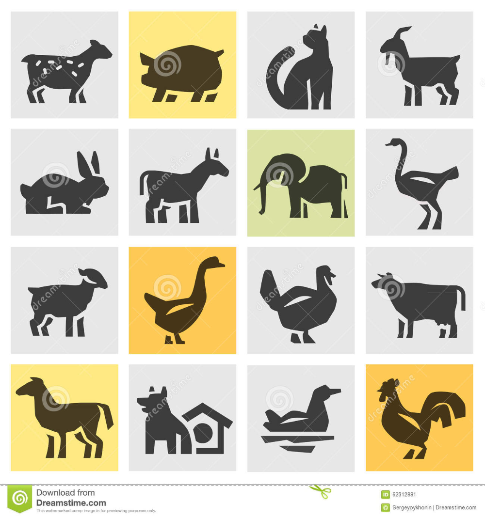 Illustration About Farm Animals Icons In The Background Vector Illustration Illustration Of Bunny Husbandry Illus Animal Icon Vector Illustration Dog Icon