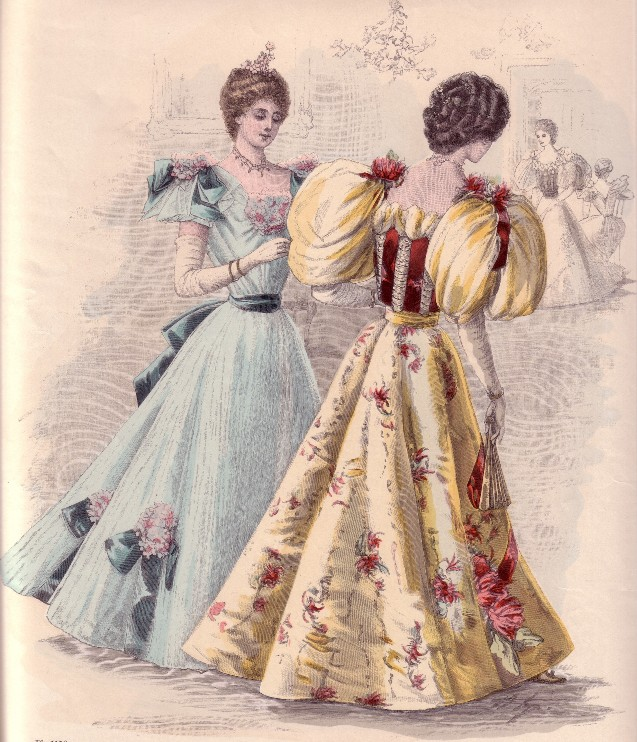 Evening Gowns 1892 3 1890s In Western Fashion Wikipedia Victorian Fashion Victorian Costume Edwardian Fashion