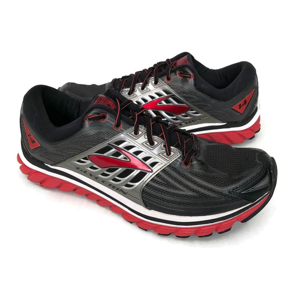 3d006455166 Brooks Glycerin 14 Men s Size 13 Sneakers Black Red Running Shoes  Brooks   RunningCrossTraining