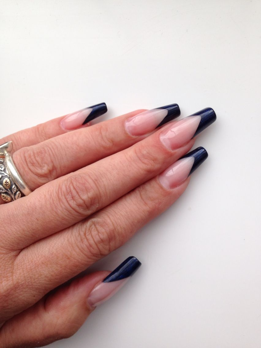 Marilyn shape sculpted acrylic nails | nails | Pinterest