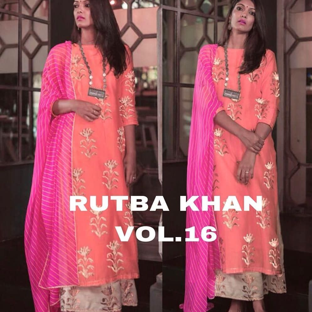 df55683ebb Rutba Khan Vol-16 This Eid Rutba Khan Has Come With New Exclusive  Collection Fabric Details : Kurta : Stitched Rayon Cotton Fabric Shirt  Highlighted With ...