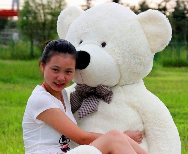 74.00$  Buy now - http://aliwgr.worldwells.pw/go.php?t=527398475 - 1.6m big size  teddy bear plush  soft toys teddy bear stuffed toys 3 color to choose freeshipping