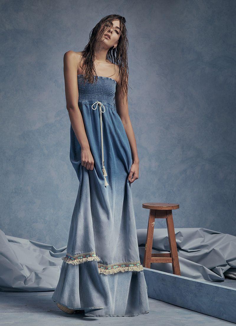 Denim Studio F Vestido Jeans Vestidos De Mezclilla