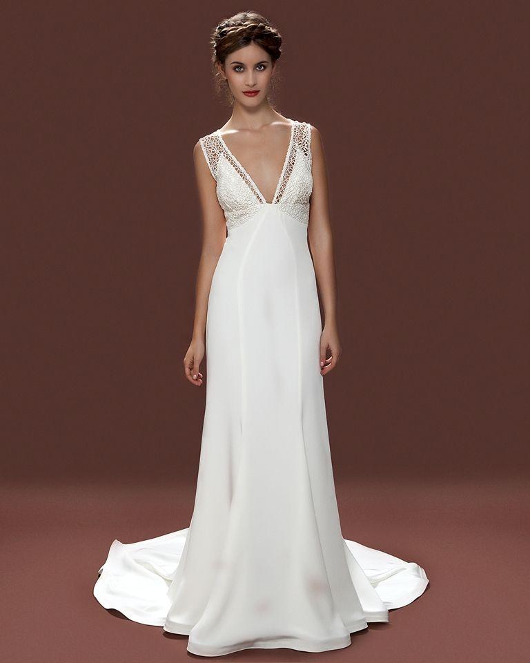 Vintage Style Wedding Dresses, Lace Wedding Dresses, Lara