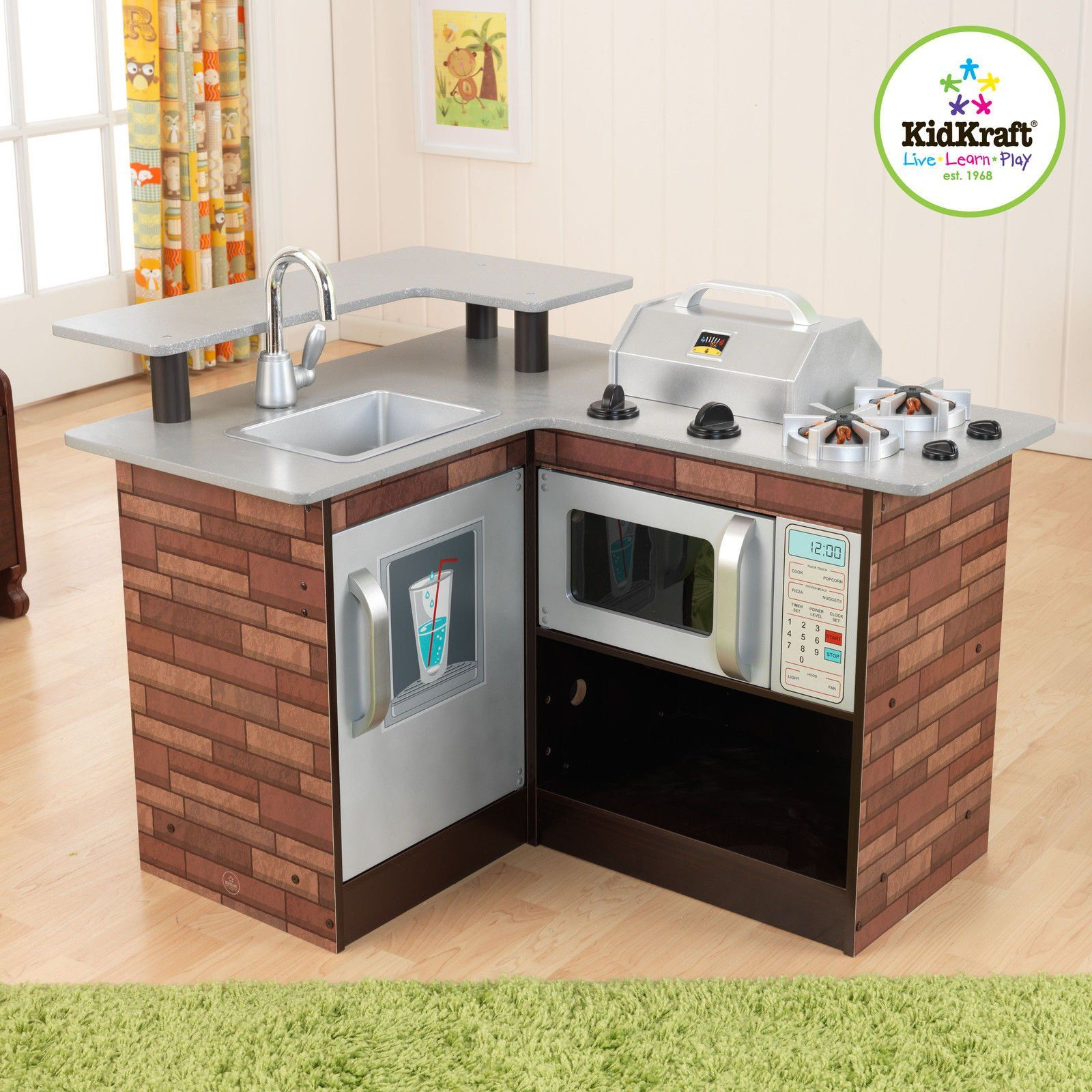 Kidkraft Chillin' & Grillin' Wooden Kitchen Chill and