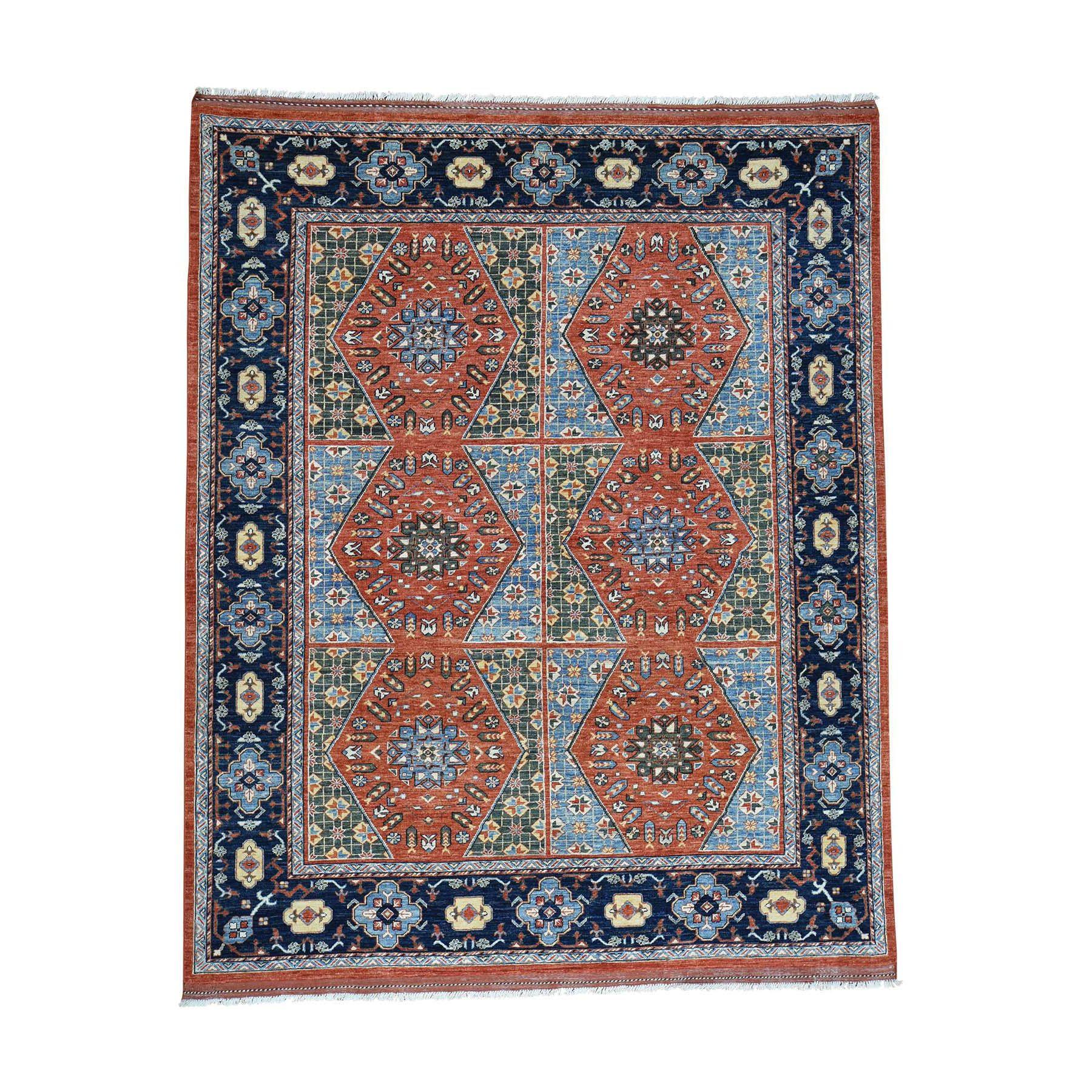 8 X10 1 Hand Knotted Afghan Ersari 100 Percent Wool Oriental Carpet Wool Carpet Carpet Handmade Rugs On Carpet