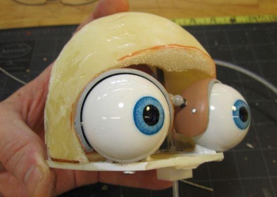 Puppet eye mechanisms. Looks like Homer Simpson. :-D