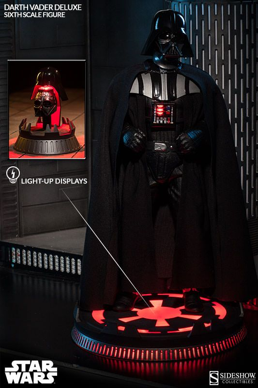 Star Wars Darth Vader Deluxe Sixth Scale Figure By Sideshow Sideshow Star Wars Darth Vader Action Figure Star Wars Awesome