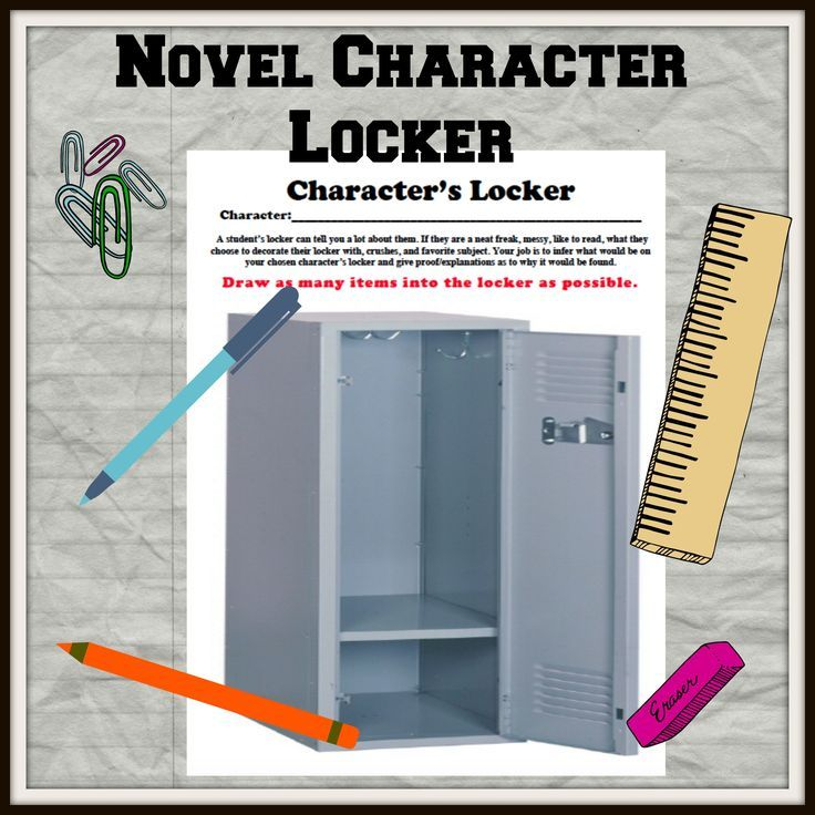 Would would a novel character have in his or her locker? Let's find out!