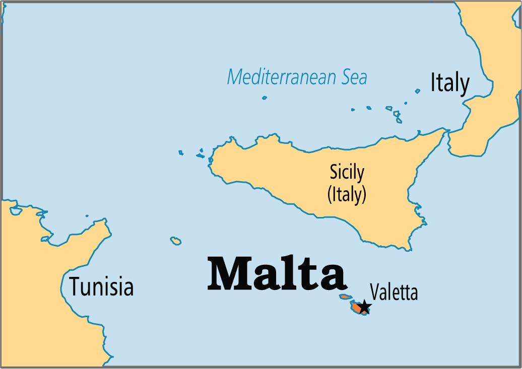 A Map Of Malta Class Malta Pinterest Malta And Malta Valletta - Malta map