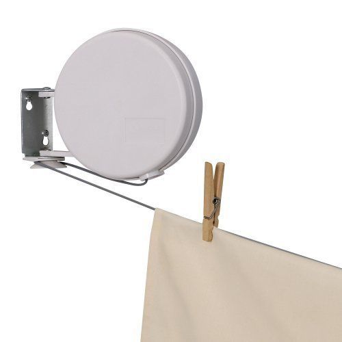 Retractable Clothes Line Reel Indoor Outdoor Drying Home Laundry Dryer Single