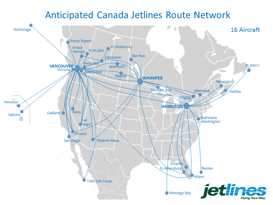 Canada Jetlines Route Map Canada Jetlines plans cross Canada expansion | Route map, Route