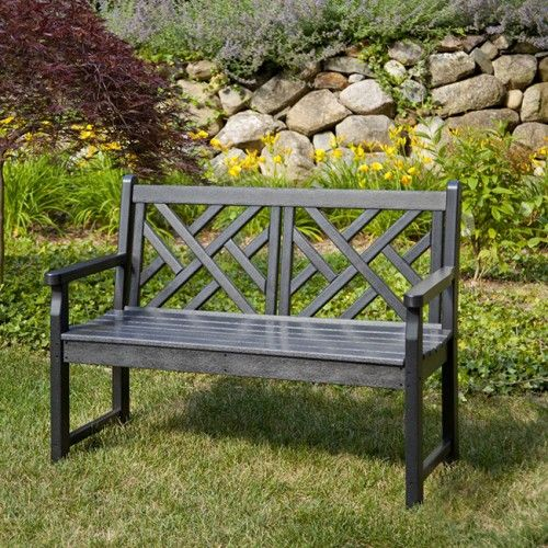 Fine Polywood Chippendale 4Ft Recycled Plastic Outdoor Bench Pabps2019 Chair Design Images Pabps2019Com